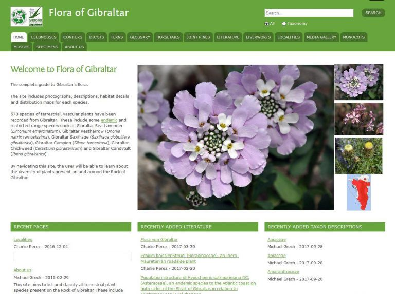 Flora of Gibraltar website